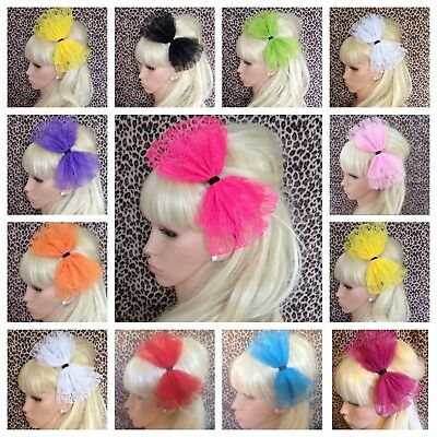 £3.99 • Buy NEW BIG OVERSIZED LACE BOW ALICE HAIR HEAD BAND 80s RETRO HEN PARTY FANCY DRESS