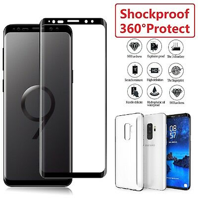 $ CDN8.22 • Buy Samsung Galaxy S8 S9 Plus Note TPU Case Cover + Tempered Glass Screen Protector