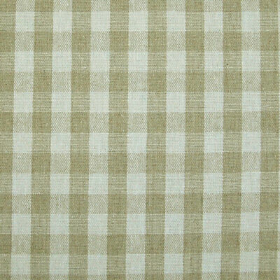French Linen Oilcloth Natural Gingham 10mm Check Machine Washable Table Cloth • 8£