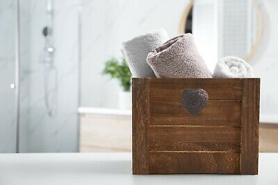 £11.99 • Buy Brown Heart Shaped Cut Wooden Crates Retail Display Shelve Storage Gift Box