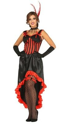 Red Can Can Costume Saloon Show Girl Fancy Dress Burlesque Wild West Outfit • 14.99£