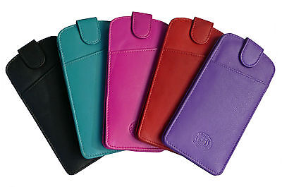 OFFER - Glasses Spectacle Case Pouch Mens Ladies Real Leather Slimline  • 7.99£