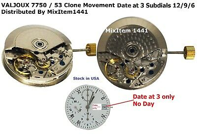 $165 • Buy New ! Valjoux Eta Clone 7750 Automatic Date @ 3,Chronograph  Sub Dial At  9/6/12