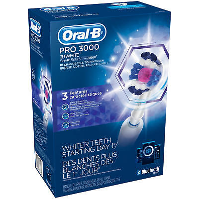AU123.76 • Buy Oral-B Pro 3000 3D White Smart Series Rechargeable Toothbrush BRAND NEW