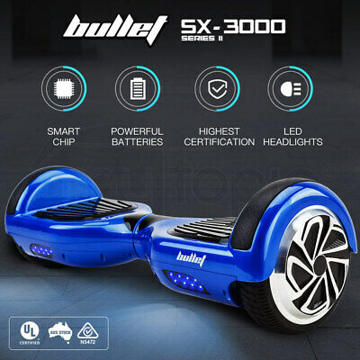 AU259 • Buy Bullet Hoverboard Scooter Self-Balancing Electric Hover Board Blue