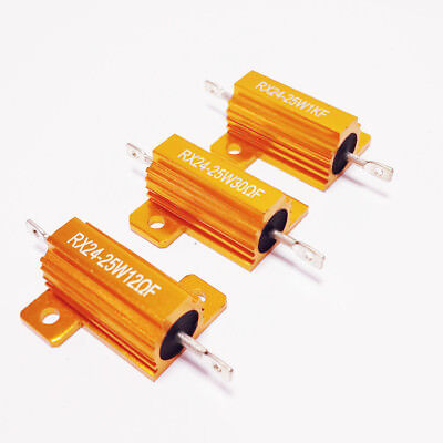 $2.24 • Buy 25W 0.1-100k Ohm Shell Power Aluminum Housed Case Wirewound Resistor New