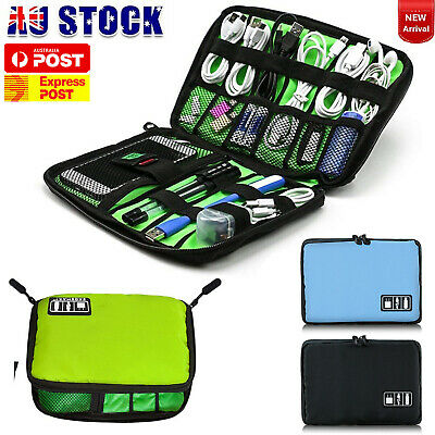 AU11.34 • Buy Digital Travel Cable Organiser Bag Electronic Accessories Storage Pouch