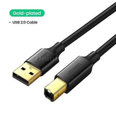 AU8.20 • Buy Ugreen Usb A To B Printer Cable For Canon Long 6 10 15 Ft Hp 2.0 3.0 Laptop New