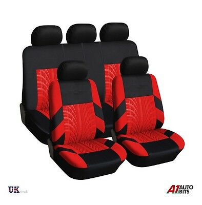 £17.99 • Buy Car Seat Covers Protectors Universal Washable Dog Pet Full Set In Red - Black