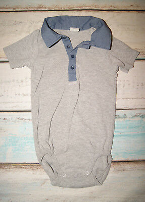 £2.79 • Buy H&M Baby Boys Short Sleeved Polo Shirt Bodysuit Size 12-18 Months Immaculate