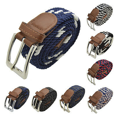 $8.99 • Buy Men Elastic Expandable Braided Fabric Woven Stretch Belts