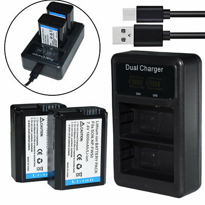 $ CDN31.29 • Buy DUAL USB Charger +2x 1500mAh Battery For NP-FW50 Sony A7 II A7R A7S ILCE-6500