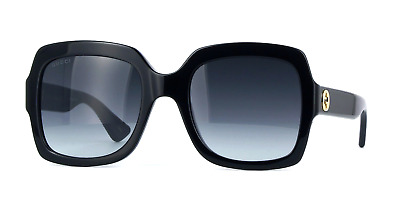 004db29834993 Gucci GG0036S 001 54mm Square Black Women Sunglasses 100% UV • 169.00