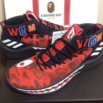 the best attitude ed073 1094a A BATHING APE X ADIDAS Originals Bape Dame 4 Damian Lilard Red 27.5cm US9.