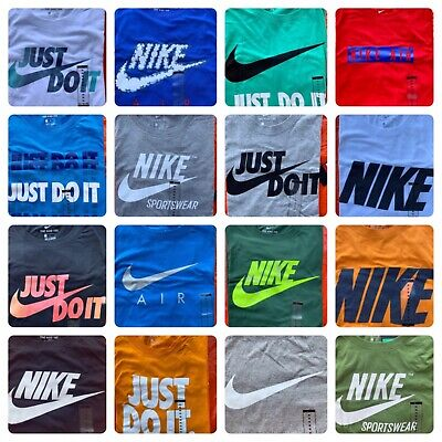 $19.95 • Buy Men's NIKE T-SHIRT S-4XL Graphic Swoosh-Just-Do-It Logo Crew Athletic Fit Tee