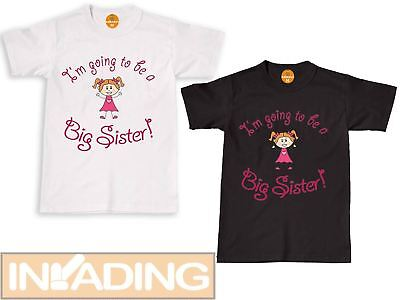 I'm Going To Be A Big Sister - Childrens Kids T Shirt Announcement Idea T-Shirt> • 6.89£