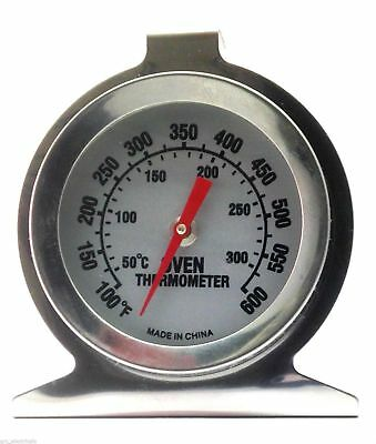 Stainless Steel Oven Thermometer / Temperature Gauge For Pizza Ovens BBQ Cooker • 4.98£