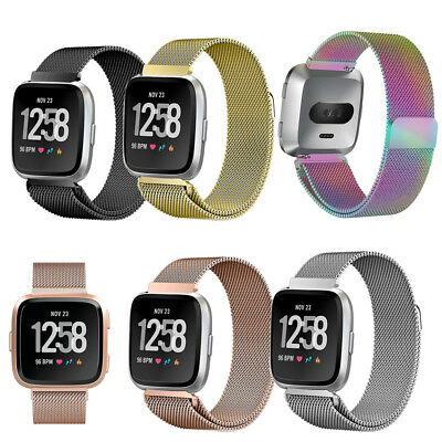 $ CDN13.98 • Buy Magnetic Milanese Stainless WristBands Strap Fitbit Versa/Lite/Special Edition