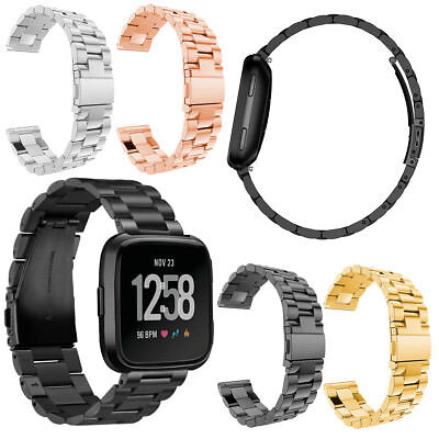 $ CDN20.10 • Buy For Fitbit Versa/Lite/Special Edition Luxury Stainless Steel WristBand Watchband