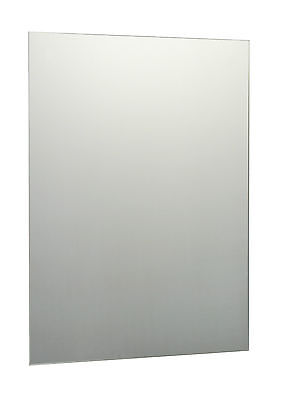 £4.99 • Buy Plain Frameless Unframed Bathroom Mirror With Wall Hanging Fixings