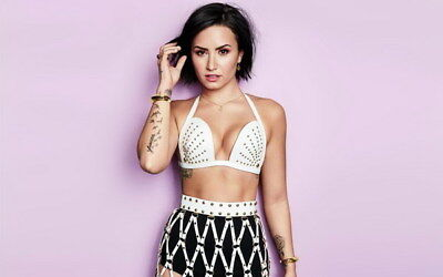 006 Demi Lovato - USA Singer Actress 22 X14  Poster • 4.49£