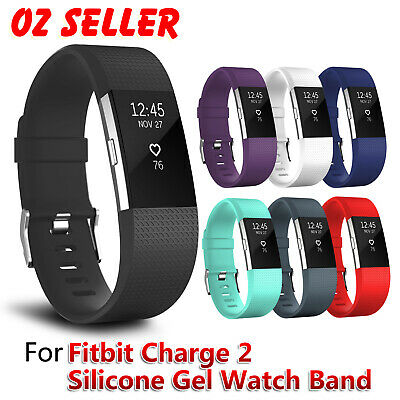 AU6.95 • Buy Replacement Silicone Watch Wrist Sports Band Strap For Fitbit Charge 2 Wristband