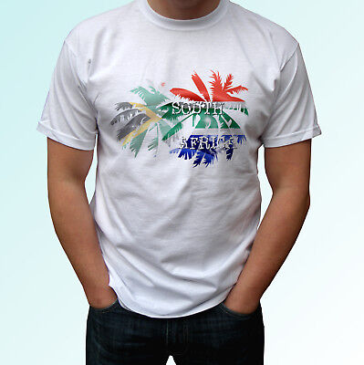 £9.99 • Buy South Africa Palm Flag - White T Shirt Holiday Top Tee Mens Womens Kids Baby