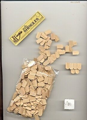 $10.76 • Buy HALF SCALE SHINGLES FISHSCALE  1:24 Dollhouse Roof  Wooden  #H7005