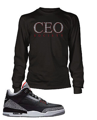 $23.99 • Buy CEO Tee Shirt To Match Jordan 3 Cement Shoe Men Graphic T Sizes Small To 10XL
