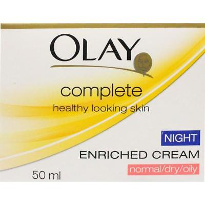AU38 • Buy 3 X Olay Complete Enriched Night Cream Normal/Dry/Oily 50ml