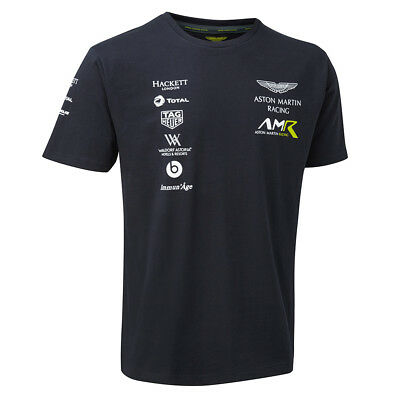 Sale! 2018 Aston Martin Racing Team Mens Sports T-Shirt Navy Sizes XS-XXXL • 22.49£