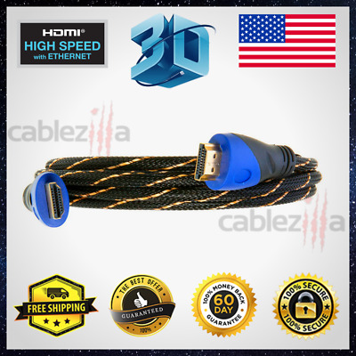 $ CDN26.07 • Buy Premium HDMI Cable High Speed Hdtv 1080P 3ft 6ft 10ft 25ft 30ft 40ft 50ft Lot