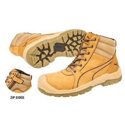 284e81a9a0a New PUMA Safety Boot Tornado Wheat Zip Sided Scuff Cap Range 6 Inches Work  Boots •