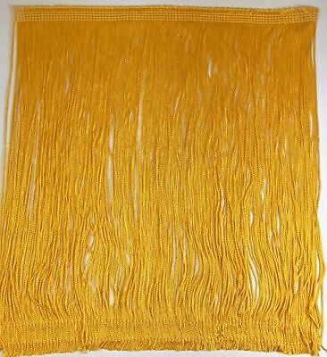 £6.44 • Buy TRIMPLACE Flag Gold 12 Inch Rayon Chainette Fringe - Sold By The Yard