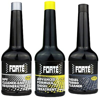 Forte Diesel Treatment+ Turbo Cleaner+ Dpf Cleaner And Regenerator *triple Pack* • 34.44£