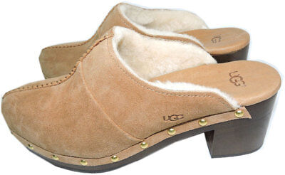 £70.74 • Buy Ugg Australia  Kassi Clogs Chestnut Mules Shearling Fur Lined Boots  Bootie 7-38