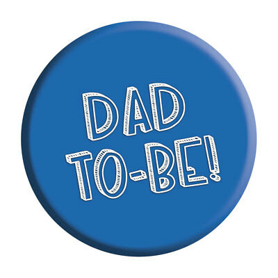 Dad To Be Badge Pin Baby Shower Gift Party Accessory Pregnancy New Daddy • 2.49£