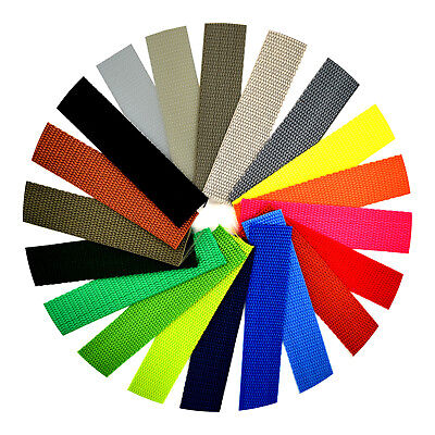 £2.49 • Buy Polypropylene Webbing Strap Tape ▲ 25mm 1 Inch ▲ 21 Colours ▲ Choice Of Lengths