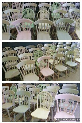 £85 • Buy Painted Refurbished New Farmhouse Kitchen Dining Chairs In FArrow & Ball Colours