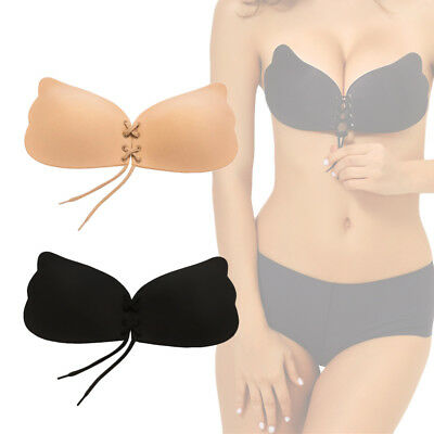 Women Adhesive Silicone Strapless Bra - Invisible Backless Stick On Push Up Bra • 2.99£