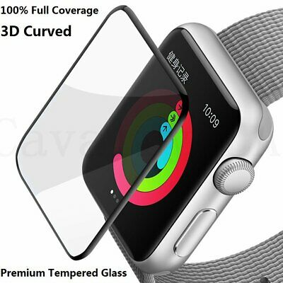 AU6.99 • Buy Apple Watch 3D Tempered Glass Screen Protector Full COVER 38/40/42/44mm IWatch