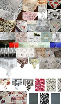 Luxury Traditional Pvc Plastic Vinyl Table Cloths Plain Printed Vintage Party • 6.75£