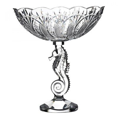 Waterford Crystal Seahorse Centrepiece Bowl 25cm • 650£