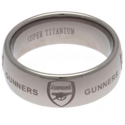 £54.90 • Buy Arsenal FC Super Titanium Ring Large Football Club Fan Supporter PRESENT GIFT