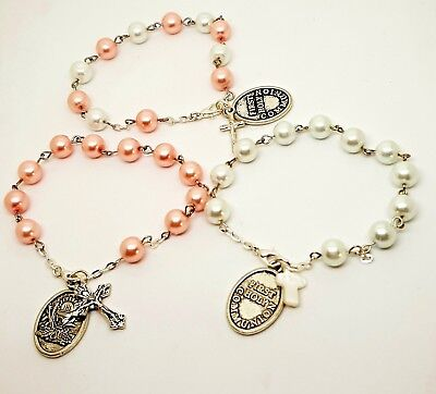 First Holy Communion Rosary Bracelet, Rosaries For Girls,Gift • 5.99£