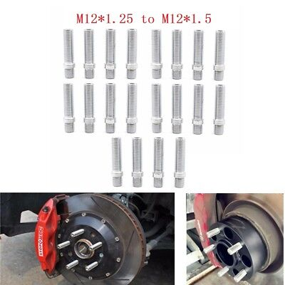 $29.10 • Buy 20PC M12x1.25 To M12x1.5 Extended Wheel Lug Bolts Stud Screw Converision Adapter