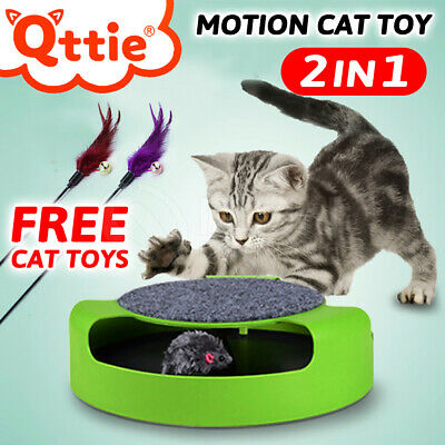 AU13.91 • Buy Motion Kitten Cat Toy Catch Mouse Scratch Pad Funny Chase Interactive Training