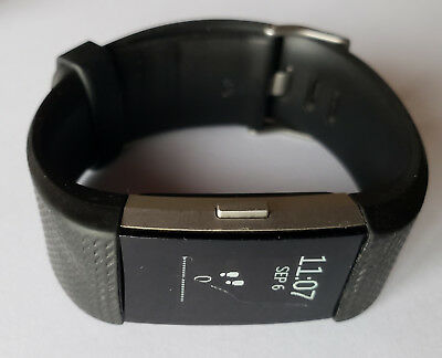$ CDN31.37 • Buy SMALL Black Fitbit Charge 2 Heart Rate Fitness Wristband SOLD-AS-IS -See Details