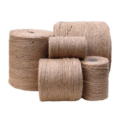 10m-1000m Metre Natural Brown Shabby Style Rustic Twine String Shank Craft Jute! • 1.08£