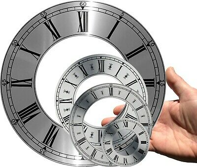£2 • Buy Clock Dial, Chapter Ring, Brushed Silver, Diameter OD 70 - 207mm